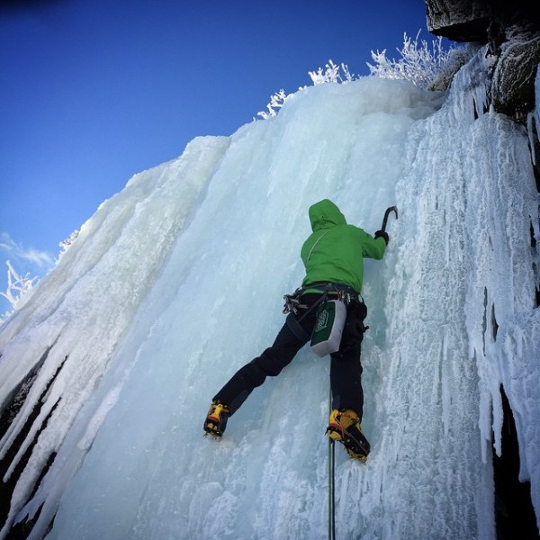 Steep Ice Climbing
